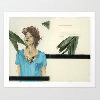 V-Necks & Their Shady Depths Art Print