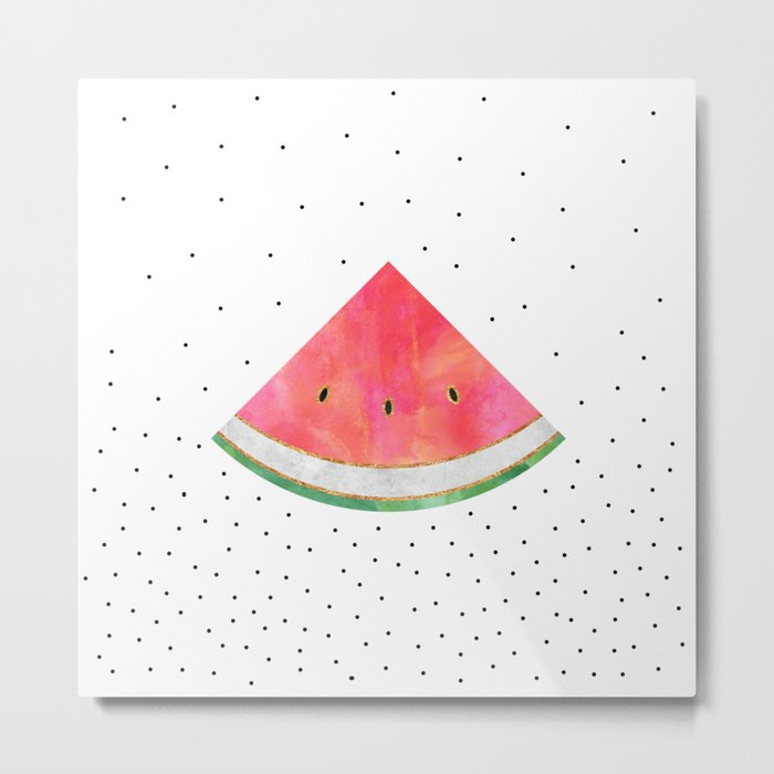 Pretty Watermelon Metal Print