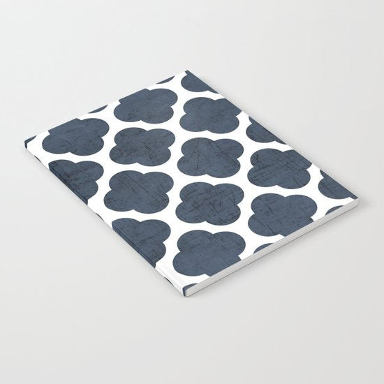 navy clover Notebook