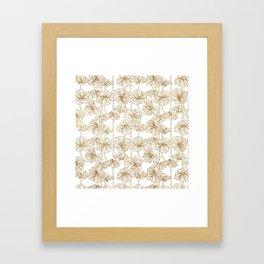 Hanging Flowers Gold Framed Art Print