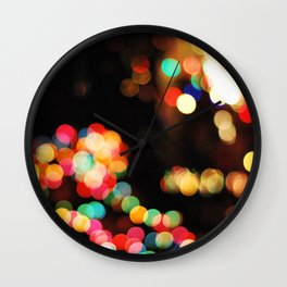 Colored Lights Wall Clock