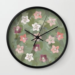 Flower Christmas Rose Wall Clock