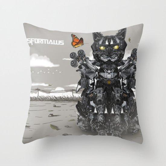 Transformaws Throw Pillow