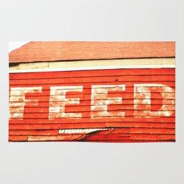 rustic feed sign Rug