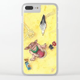 Hunting on the beach Clear iPhone Case