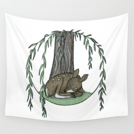 Naptime Under the Willow Wall Tapestry