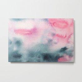 When indigo meets pink || watercolor Metal Print