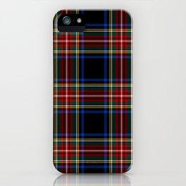 Black Stewart Tartan | Clan Stuart | Scottish Tartan iPhone Case