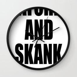 Ratchet And Skank Wall Clock