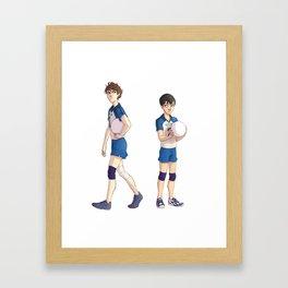 Setter Rivalry 1 Framed Art Print