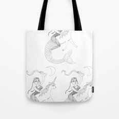Cass Harris on a Mernicorn Tote Bag