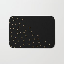 Gold Sparkle Glitter Heart- Luxury and glamour Hearts pattern Bath Mat