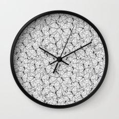 Butterflies Black on White Wall Clock