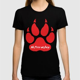 Red Paw [Black] T-shirt