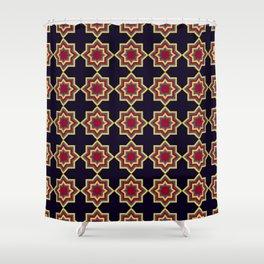 Moroccan Flare Geometric Seamless Pattern Shower Curtain