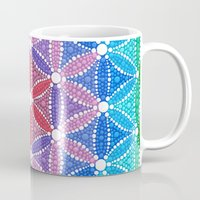 flower of life Mugs featuring Lotus Flower of Life by Elspeth McLean