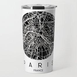 Paris Round Black Travel Mug