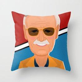 Stan Lee Throw Pillow