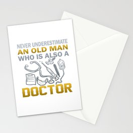 Old Man - A Doctor Stationery Cards