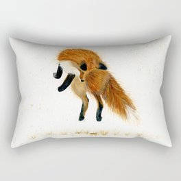 Fox Hop - animal watercolor painting Rectangular Pillow