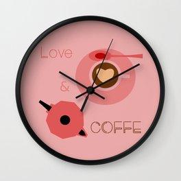 Love & Coffee Wall Clock