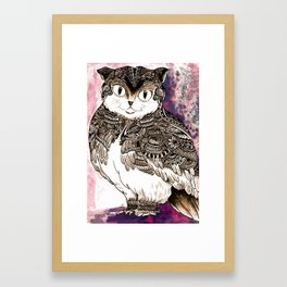 Meowl Framed Art Print