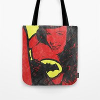 bondage Tote Bags featuring Bondage Crusader by Butcher Billy