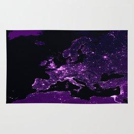 Earth Night Lit Up : Purple Rug