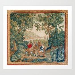Verdure 18th Century French Tapestry Print Art Print