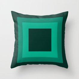 Dark Green Square Design 3 Throw Pillow