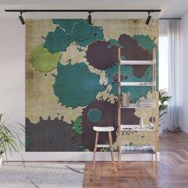 Abstract Lemonchiffon khaki splash Wall Mural