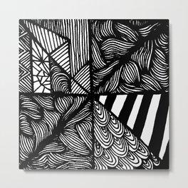 Zentangle #25 Metal Print