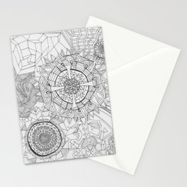 Adult Coloringbook Template Mandalas 2 Stationery Cards
