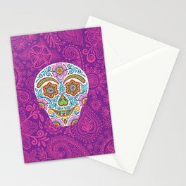 Flower Power Skully Stationery Cards