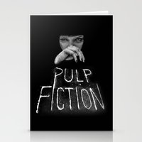 pulp fiction Stationery Cards featuring Pulp Fiction by Demetria Rose