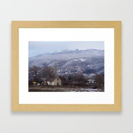 The house on the clearing Framed Art Print