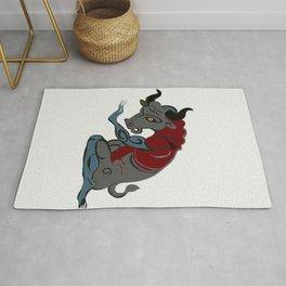 "Minotaur, Greek Minotauros (""Minos's Bull""), in Greek mythology Rug"