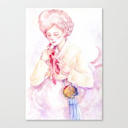 Year of the Rooster - Zodiac & Hanbok Canvas Print