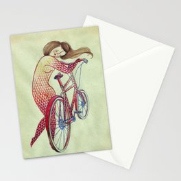 Bicycle hugger Stationery Cards