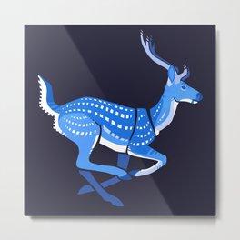 Blue deer redux Metal Print