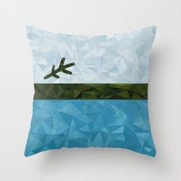 Geo Labrador Flag Throw Pillow