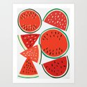 Sliced Watermelon by leannesimpsonart
