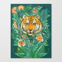 Tiger Tangle in Color Canvas Print