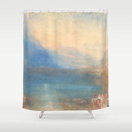 The Lake of Zug by Joseph Mallord William Turner 1843, British Shower Curtain