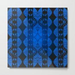 Antique Tribal Night Vision Geometric Metal Print