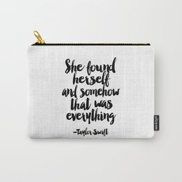 Quote,Swift Quote,Typography Print,Pardon My French,Inspirational Quote,Wall Art,Girls Room Carry-All Pouch