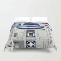 daenerys Duvet Covers featuring R2D2 by Smart Friend