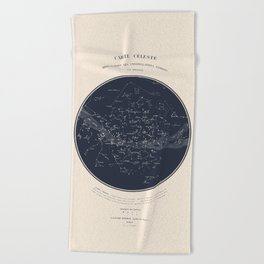 Carte Celeste Beach Towel