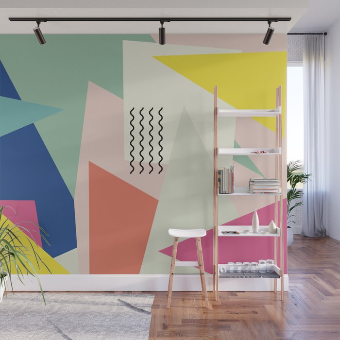 Shapes and Waves Wall Mural