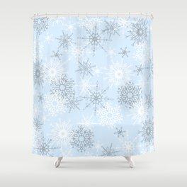 snowflake LOVE Shower Curtain